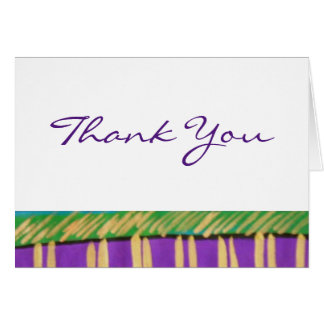 African Trim Thank You Card