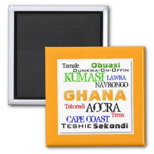 African_Urban Custom Square Magnet
