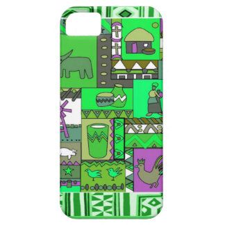 African village artifacts green iPhone 5 cover