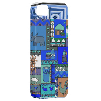 African village life blue case for the iPhone 5