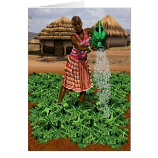 African village life card