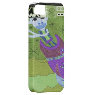 African village life meet the ancestors green barely there iPhone 5 case
