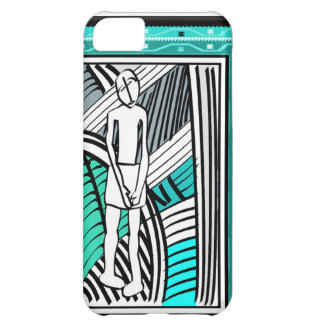 African village life tribal farmer -turquoise iPhone 5C case