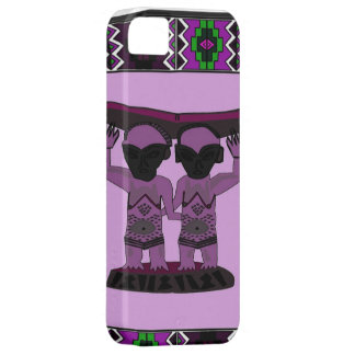 African village life tribal figures rose barely there iPhone 5 case