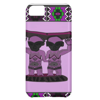 African village life tribal figures rose iPhone 5C case