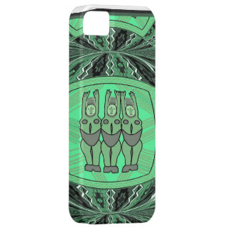 African village life tribal figurines - jade iPhone 5 covers