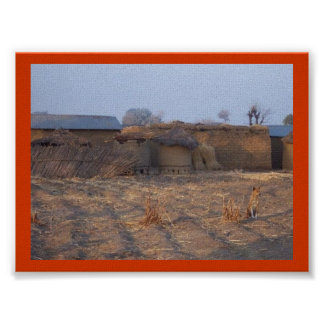 African Village Posters