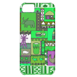 African village scene -apple green iPhone 5C case