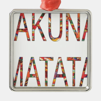 African Vintage Colors Hakuna Matata.jpg Christmas Ornament