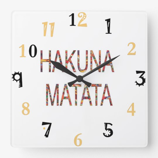African Vintage Colours Hakuna Matata gift large Square