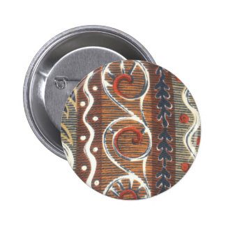 African Vintage Traditional Colors Button Template