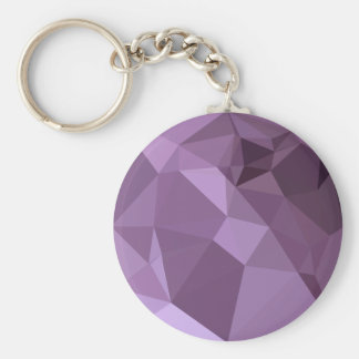 African Violet Abstract Low Polygon Background Basic Round Button Key Ring