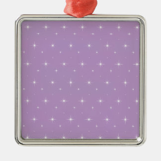 African Violet And Shining Stars Elegant Pattern Ornaments
