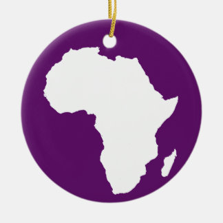 African Violet Audacious Africa Christmas Ornament