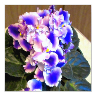 African Violet Blue 13 Cm X 13 Cm Square Invitation Card