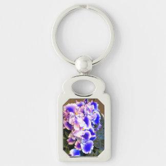 African Violet Blue Keychains