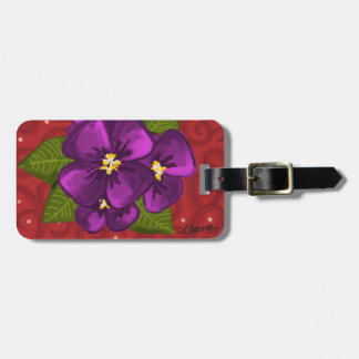 African Violet Dance Bag Tag