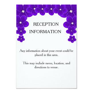African Violet Invitation Insert