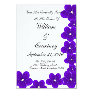 African Violet Invitations