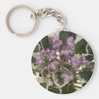 African Violet Key Chain.jpg Basic Round Button Key Ring