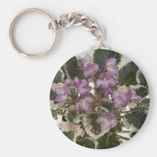 African Violet Key Chain.jpg Basic Round Button Key Ring