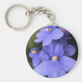 African Violet Key Chains
