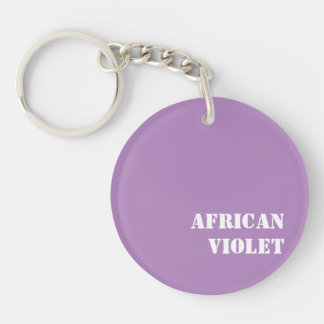 African violet acrylic keychains