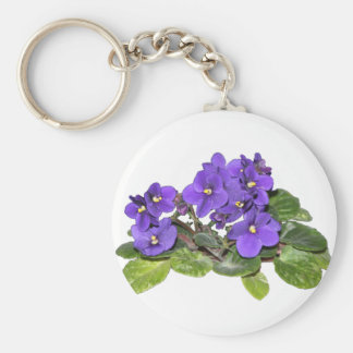 African violet keychains