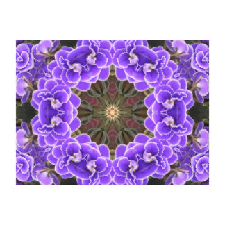 African Violet Mandala Canvas Print