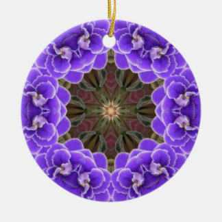 African Violet Ornamant Christmas Ornament