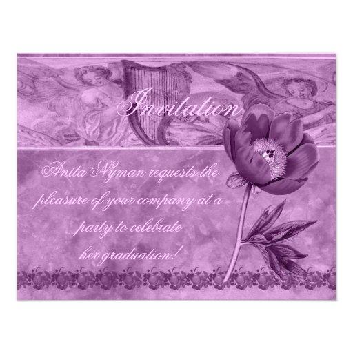 African Violet Poppy Invites