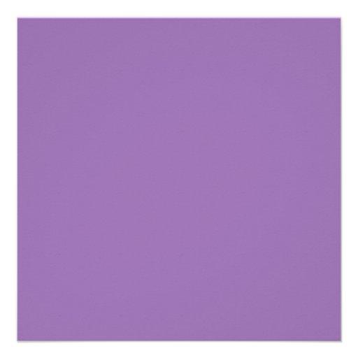 African Violet Purple Color Trend Blank Template Custom Invitations