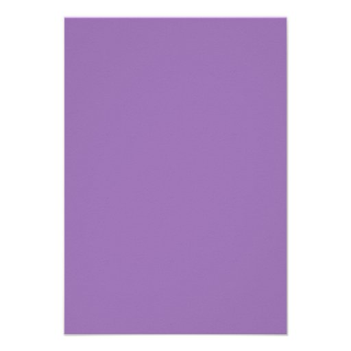 African Violet Purple Color Trend Blank Template Custom Announcement