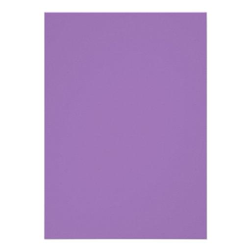 African Violet Purple Color Trend Blank Template Custom Invitation