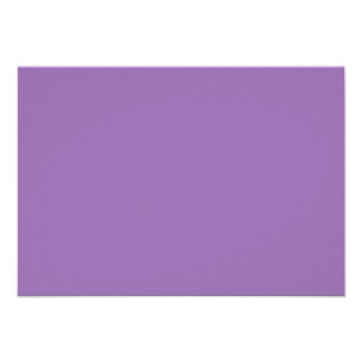 African Violet Purple Color Trend Blank Template Custom Announcements