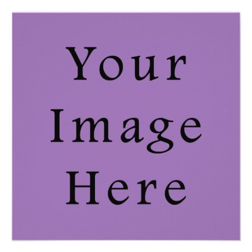 African Violet Purple Color Trend Blank Template Announcement