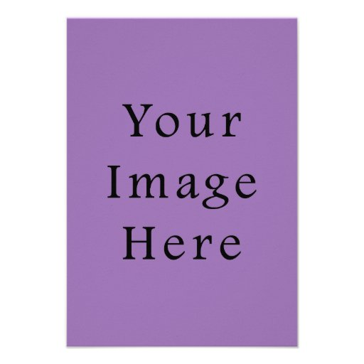 African Violet Purple Color Trend Blank Template Personalized Announcement