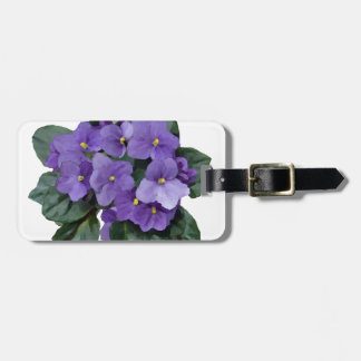 African Violet Purple Garden Flower Luggage Tag