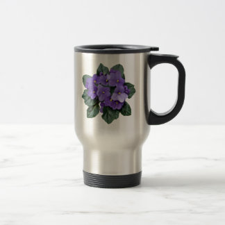 African Violet Purple Garden Flower Travel Mug