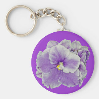 African Violet Purple Basic Round Button Key Ring