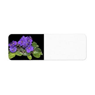African violet return address label