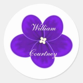 African Violet Round Sticker