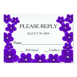 African Violet RSVP Cards 9 Cm X 13 Cm Invitation Card
