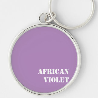 African violet Silver-Colored round key ring