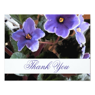 African Violet Thank You Notes 11 Cm X 14 Cm Invitation Card