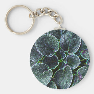 African Violet With Glowing Edges Keychains