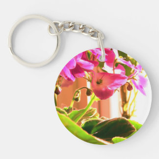 African Violets Key Chain