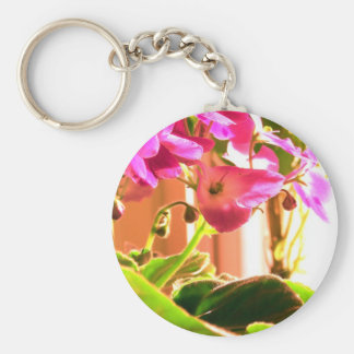 African Violets Keychains
