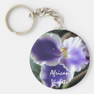 African Violets Keychain