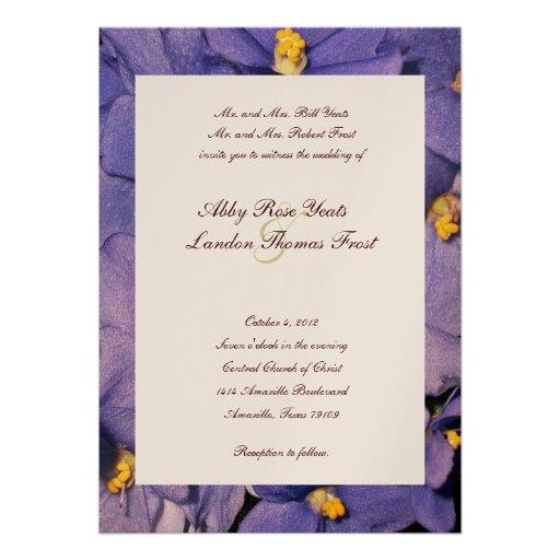 African Violets Wedding Invitation